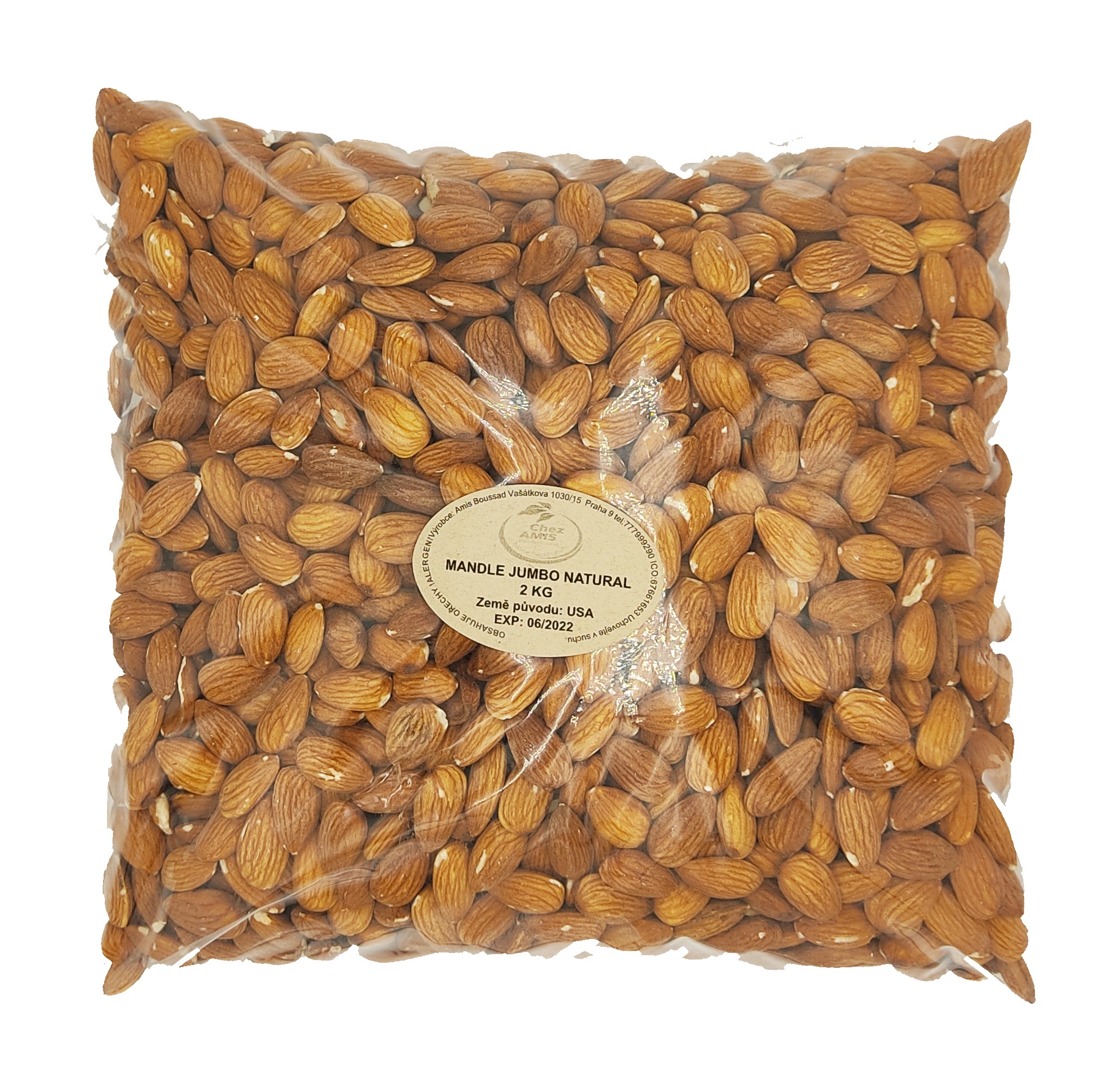 Mandle natural jumbo 2kg